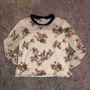 Tops - Floral Long-sleeve Shirt